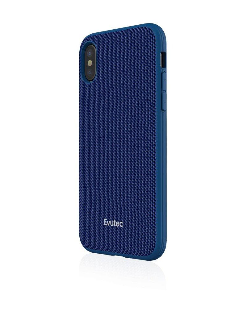 Evutec Evutec Ballistic Nylon Aergo Series With Afix Case for iPhone Xs Max - Blue