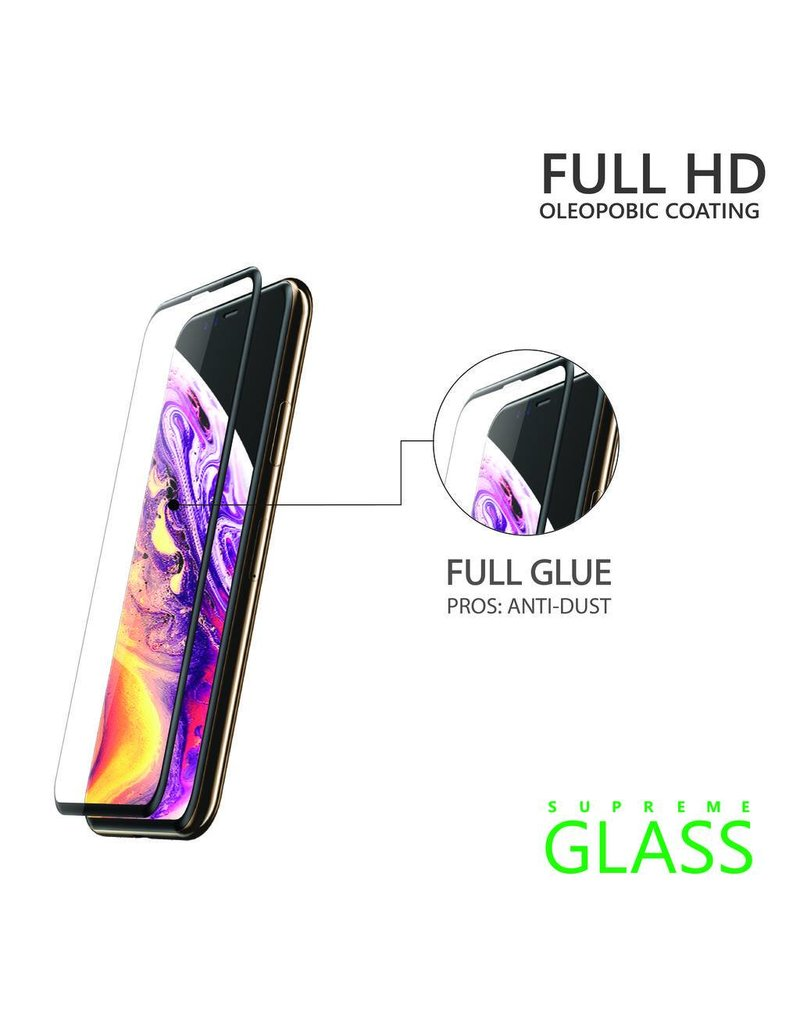AMAZINGthing AT IPHONE Xs Max 6.5'' 0.33MM 2.5D FULLY COVERED SUPREME GLASS (BLACK)