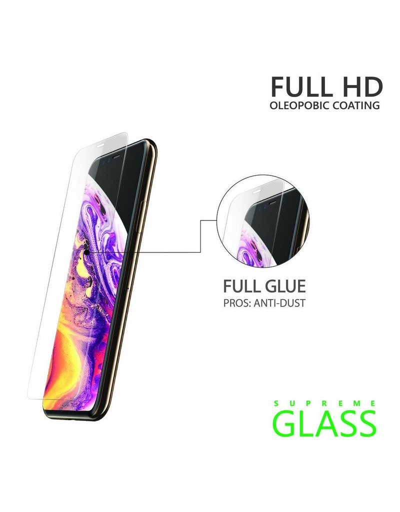 AMAZINGthing AT IPHONE Xs Max 6.5'' 0.33MM 2.5D SUPREME GLASS (CRYSTAL)