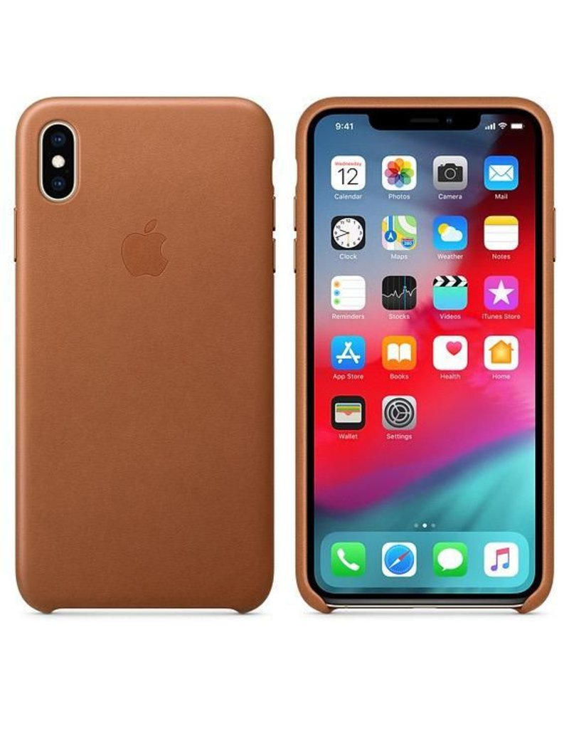 Apple Apple iPhone Xs Max Leather Case - Saddle Brown
