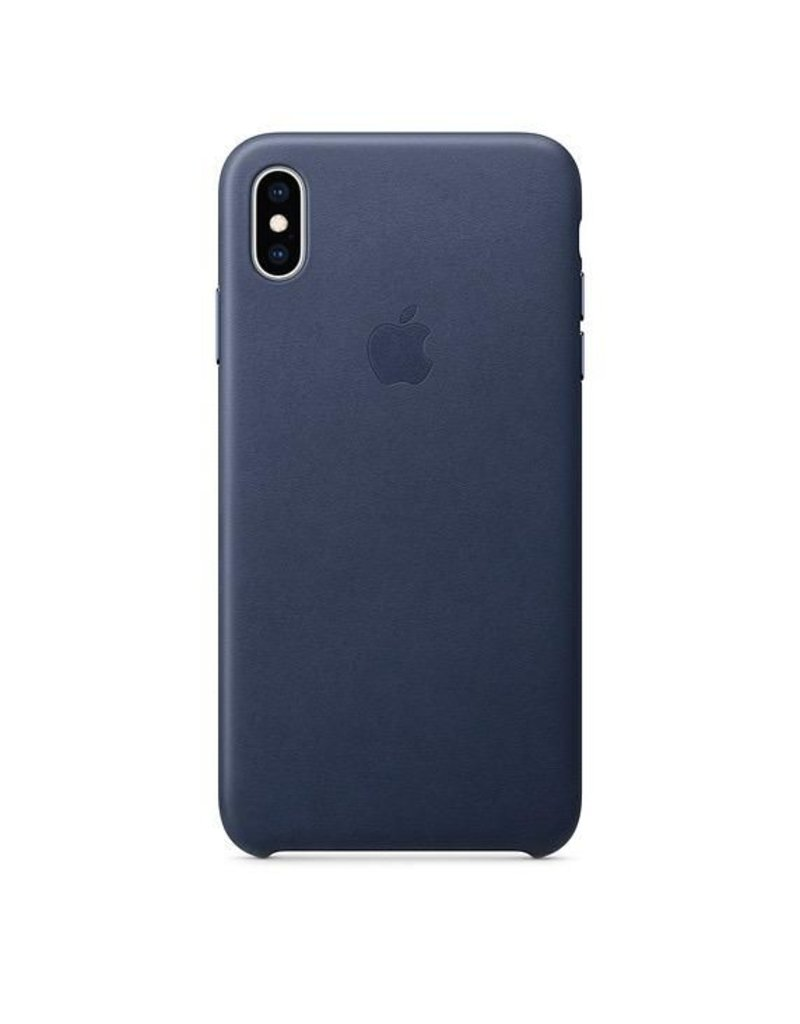 Apple Apple iPhone Xs Max Leather Case - Midnight Blue