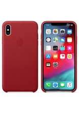 Apple Apple iPhone Xs Max Leather Case - Red