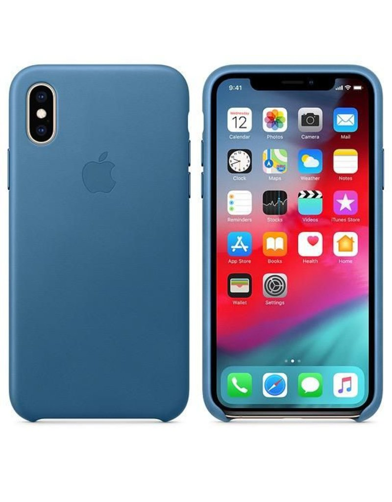 Apple Apple iPhone Xs Leather Case - Cape Cod Blue