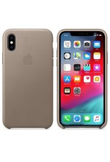 Apple Apple iPhone Xs Leather Case - Taupe