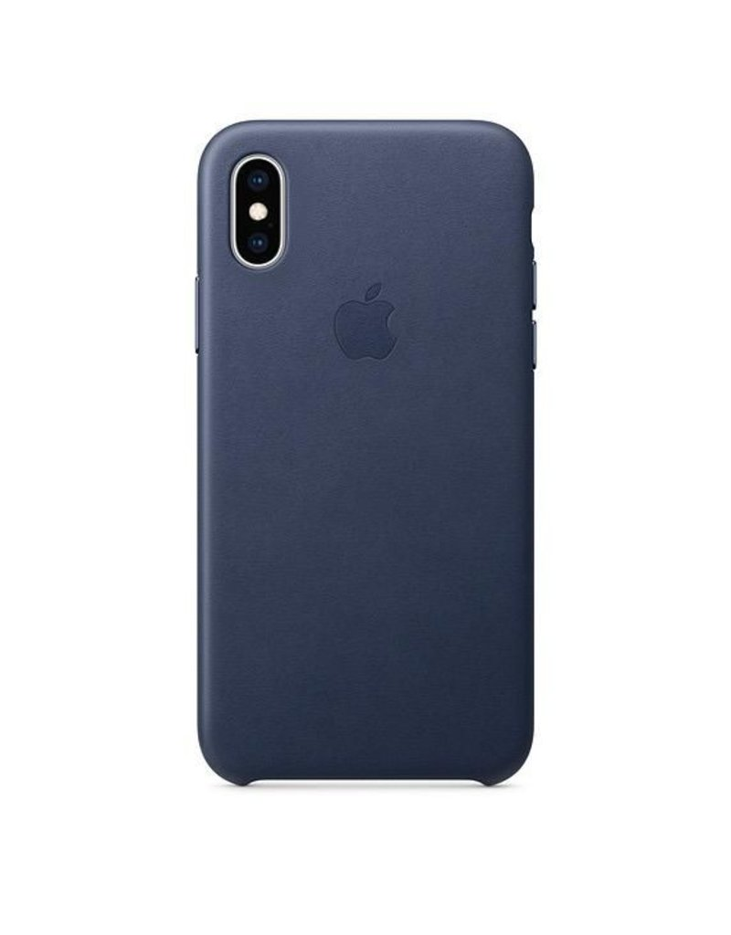 Apple Apple iPhone Xs Leather Case - Midnight Blue