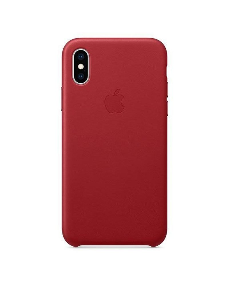 Apple Apple iPhone Xs Leather Case - Red