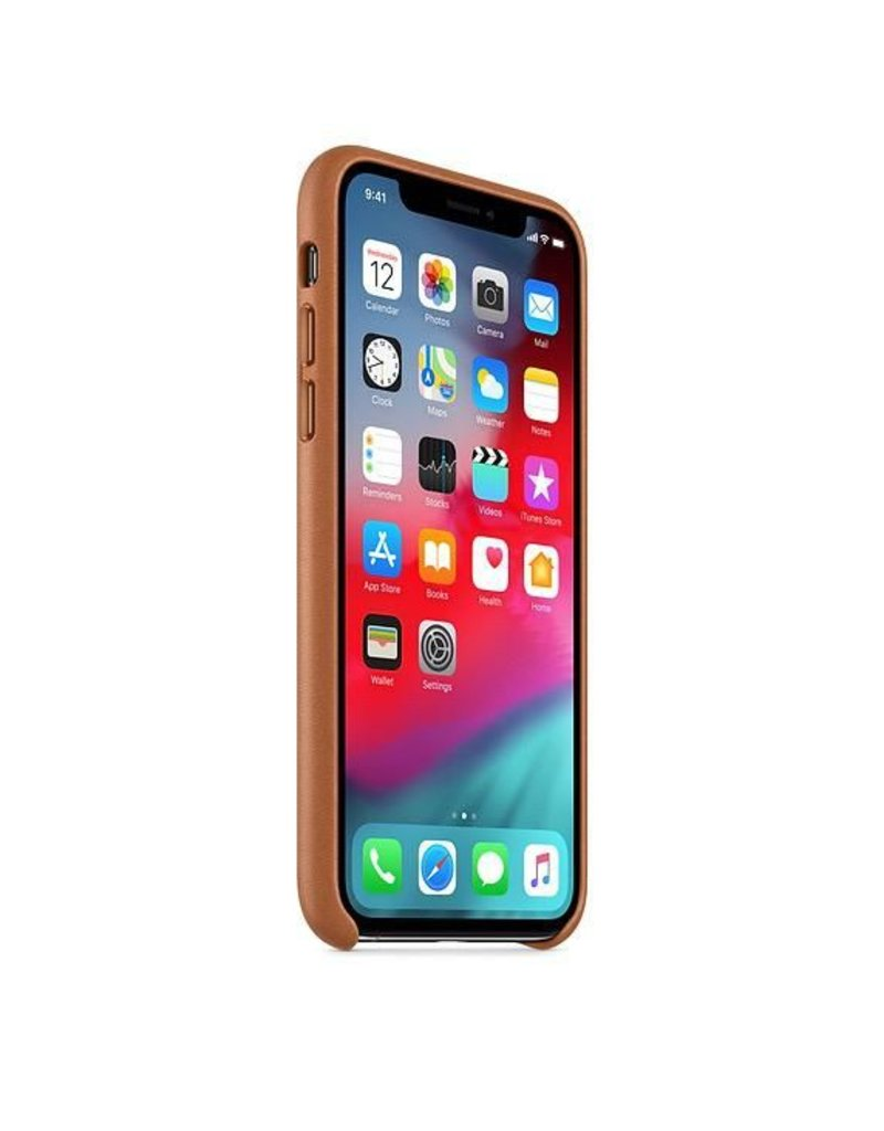Apple Apple iPhone Xs Leather Case - Saddle Brown