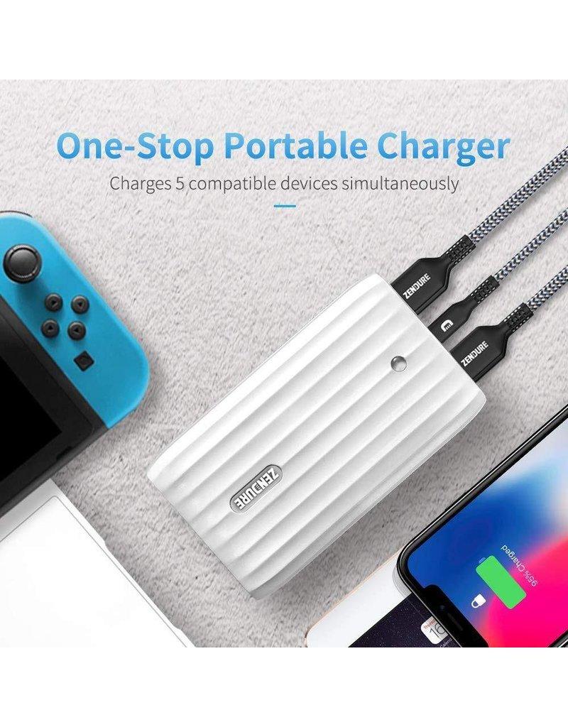 Zendure Zendure X6 Portable Charger & Hub With 45W PD+QC USB-C Input/Output 20,100mAh - White