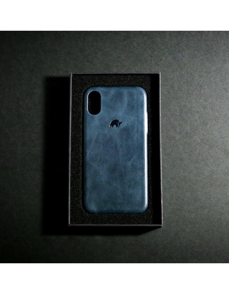 Bull Strap Bull Strap Genuine Bold Leather Case for iPhone Xs Max - Blu