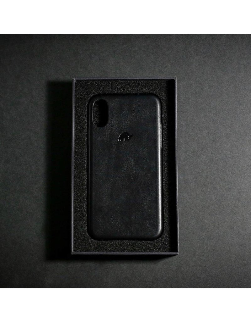 Bull Strap Bull Strap Genuine Bold Leather Case for iPhone Xs Max - Nero