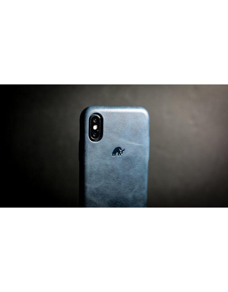 Bull Strap Bull Strap Genuine Bold Leather Case for iPhone X/Xs - Blu