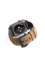 Bull Strap Bull Strap Genuine Bold Leather Strap for Apple Watch 44/42mm - Classic/Black