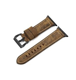 Bull Strap Bull Strap Genuine Bold Leather Strap for Apple Watch 44/42mm - Vintage/Black