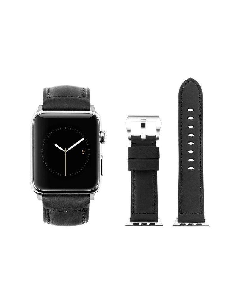 Bull Strap Bull Strap Genuine Bold Leather Strap for Apple Watch 44/42mm - Black Matte/Black