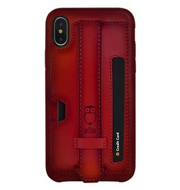 Ullu Ullu Hand Colored Premium Leather Strappy+Card Holder Case for iPhone Xs Max - Bloody Hell