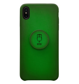 Ullu Ullu Hand Colored Premium Leather Poppy Grip and Stand Case for iPhone Xs Max - Emerald