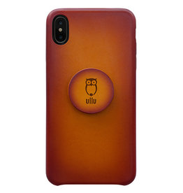 Ullu Ullu Hand Colored Premium Leather Poppy Grip and Stand Case for iPhone Xs Max - Tangerine