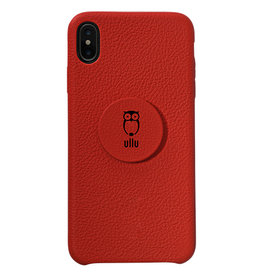 Ullu Ullu Hand Crafted Premium Leather Poppy Grip and Stand Case for iPhone Xs Max - Bloody Hell
