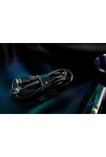 Native Union Native Union Coil Stainless Steel Charging Cable with Genuine Leather Strap 4-foot -  Brushed Black