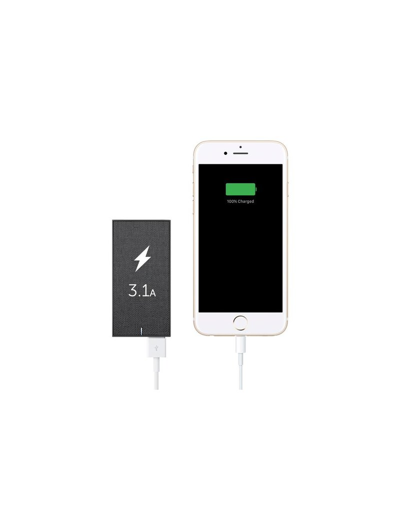 Native Union Native Union Smart Wall Charger 2-Port USB-A With International Adapters - Slate Fabric Gray