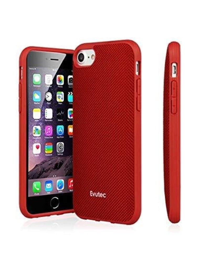 Evutec Evutec Aergo Series Ballistic Nylon for iPhone 7/8 - Red (It Won't Support Wireless Charging)