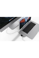 "Hyper Hyper Drive++ PRO 8-in-2 Hub for USB-C MacBook Air 2018, Pro13""/15"" - Sliver"