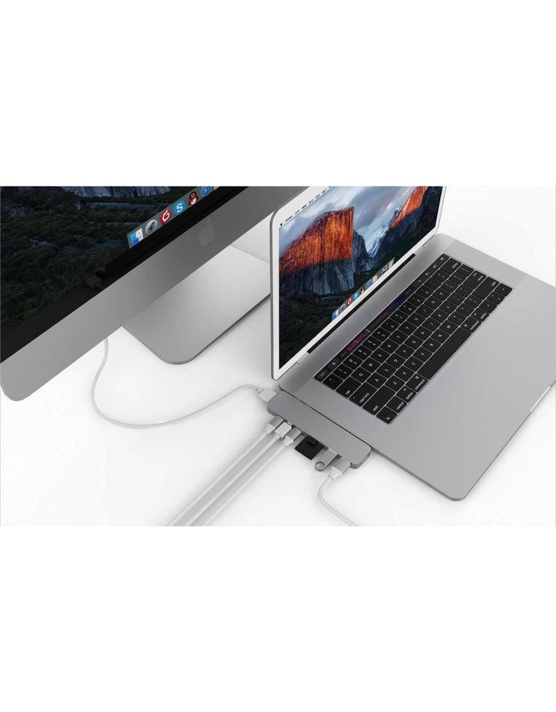 "Hyper Hyper Drive++ PRO 8-in-2 Hub for USB-C MacBook Air 2018, Pro13""/15"" - Space Gray"