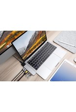 "Hyper Hyper Drive++ NET 6-in-2 Hub for USB-C MacBook Air 2018, Pro13""/15"" - Sliver"
