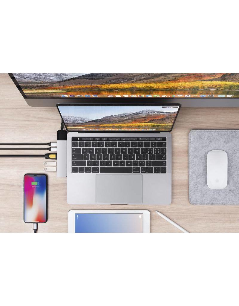 "Hyper Hyper Drive++ NET 6-in-2 Hub for USB-C MacBook Air 2018, Pro13""/15"" - Space Gray"