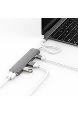 Hyper Hyper Drive++ 4-in-1 USB-C Hub With 4K HDMI Support - Space Gray