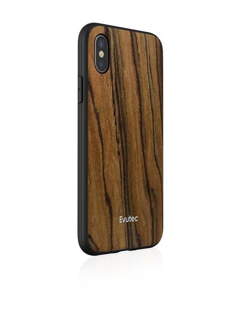 Evutec Evutec Aer With Afix Case for iPhone Xs Max - Burmese Rosewood
