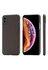Pitaka Aramid Case for iPhone Xs - Black/Gold Twill