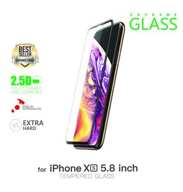 "AMAZINGthing AT IPHONE XS 5.8"" 0.3M 3D EX BULLET FULLY COVERED SUPREME GLASS (BLACK)"