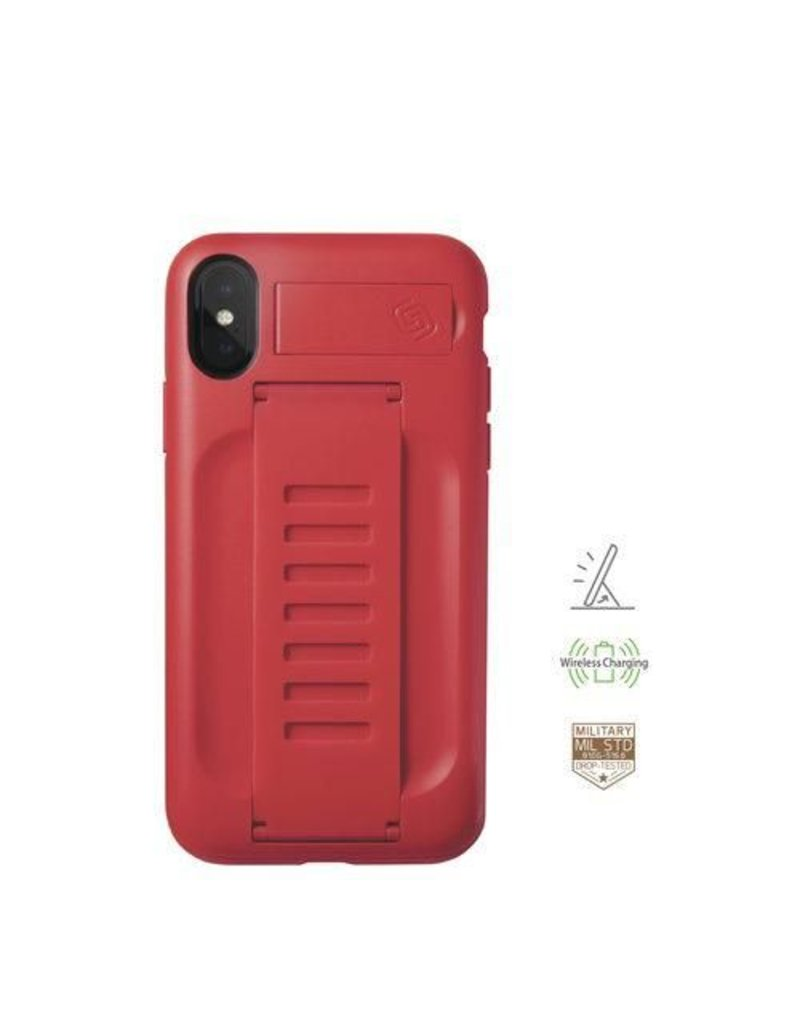 Grip2u Grip2u Boost Hand Grip with Kickstand Case for iPhone Xs - Ruby