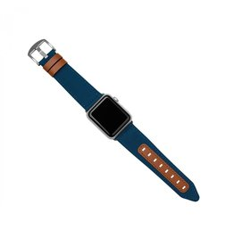 Evutec Evutec Northill Apple Watch Band 42/44mm - Blue/Saddle