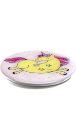PopSockets PopSockets Device Stand and Grip - Glitter Jumping Unicorn Yellow