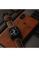 Bull Strap Bull Strap Genuine Bold Leather Strap for Apple Watch 40/38mm - Vintage/Black