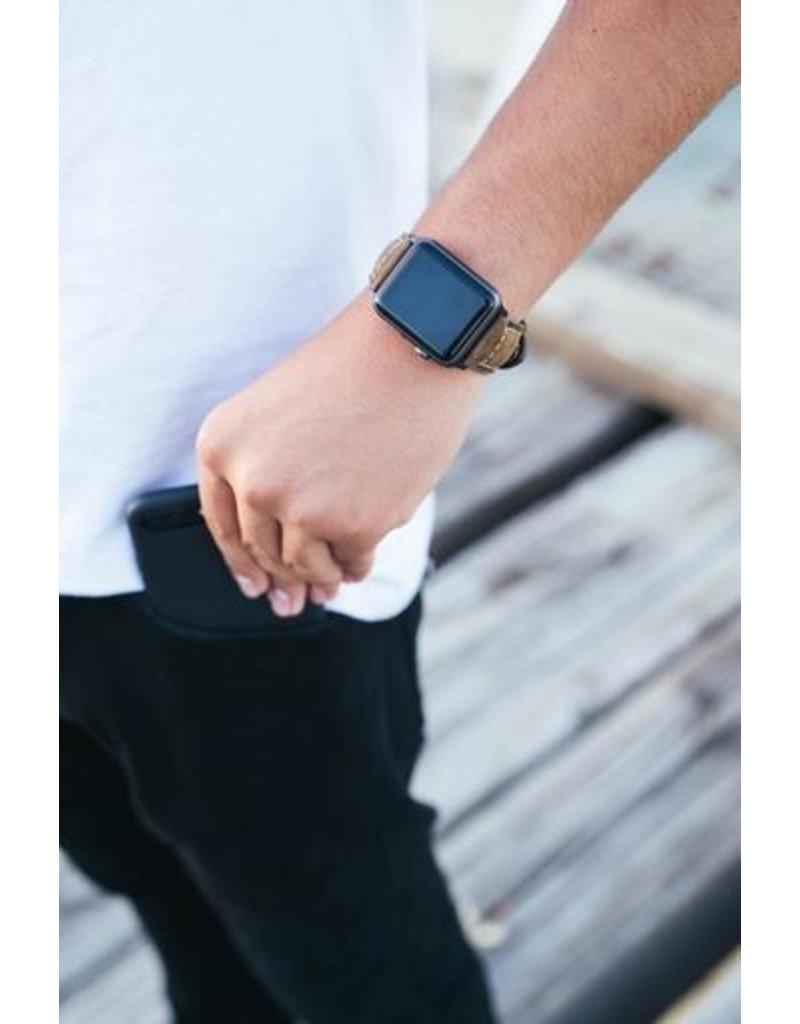 Bull Strap Bull Strap Genuine Bold Leather Strap for Apple Watch 40/38mm - Classic/Sliver