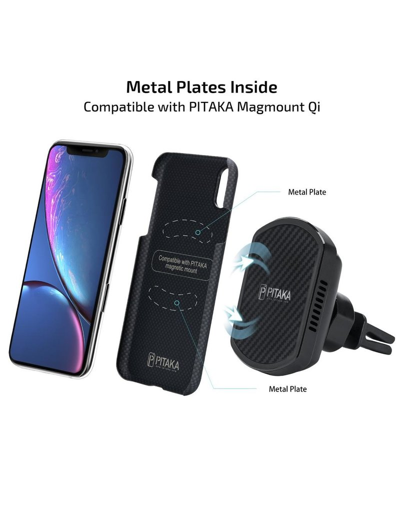 Pitaka Pitaka Aramid Case for iPhone Xr - Black/Grey Plain