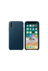 Apple Apple iPhone X Leather Case - Cosmos Blue