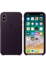 Apple iPhone X Leather Case - Dark Aubergine