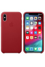 Apple Apple iPhone X Leather Case - Red