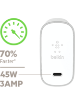 Belkin Belkin 70% Faster USB-C Home Charger + Cable 45W - Silver