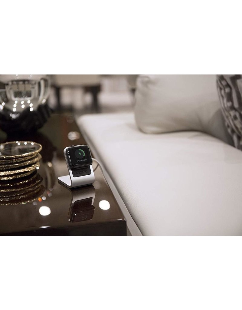 Incipio INCIPIO APPLE WATCH 38MM/42MM CHARGING STAND (DOES NOT INCLUDE CHARGING CABLE) - SILVER