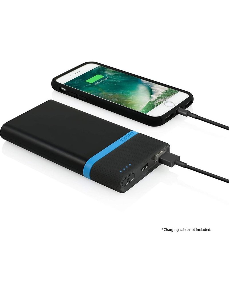 Incipio INCIPIO OFFGRID POWER BANK WITH INTEGRATED USB TYPE C CABLE (8000 MAH) - BLACK