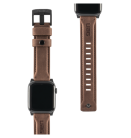 UAG Urban Armor Gear (UAG) - Leather Watchband for Apple Watch 42mm / 44mm - Brown