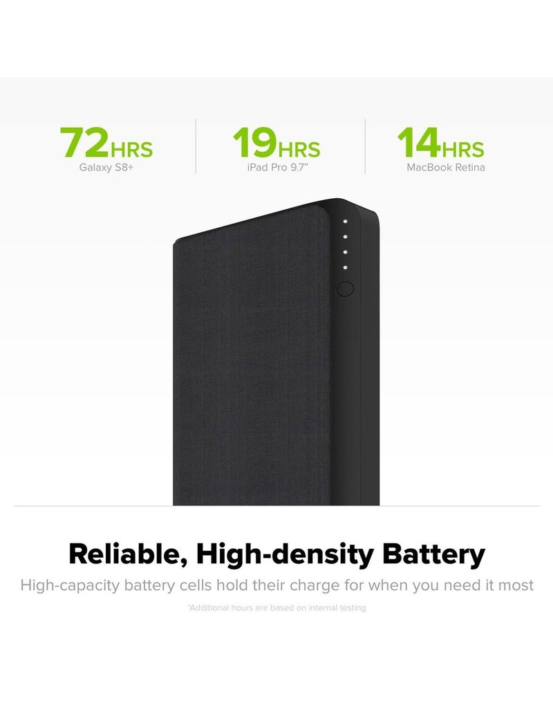 Mophie Mophie Powerstation USB-C XXL Power Bank 19,500 mAh for Mobile Devices and Macbooks - Black Fabric