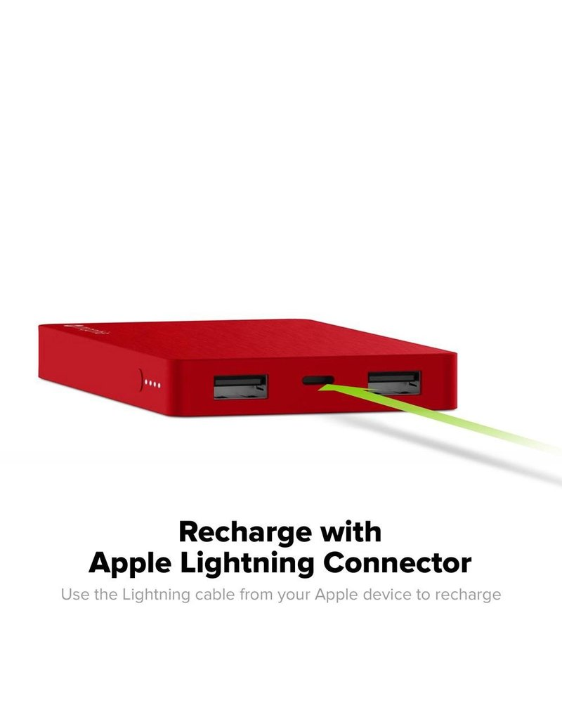 Mophie mophie PowerStation Lightning Connector Power Bank 5,050 mAh - Red