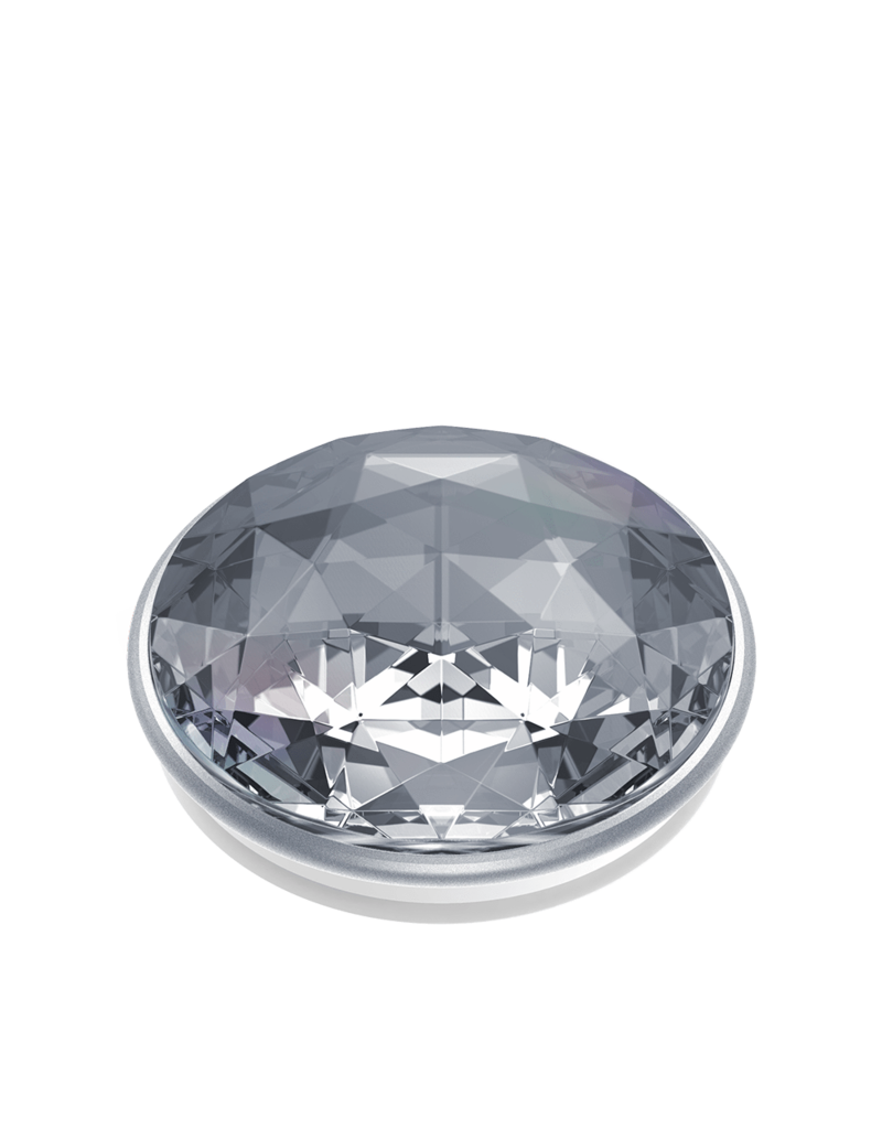PopSockets PopSockets PopGrips Swappable Abstract Device Stand and Grip - Disco Crystal Silver