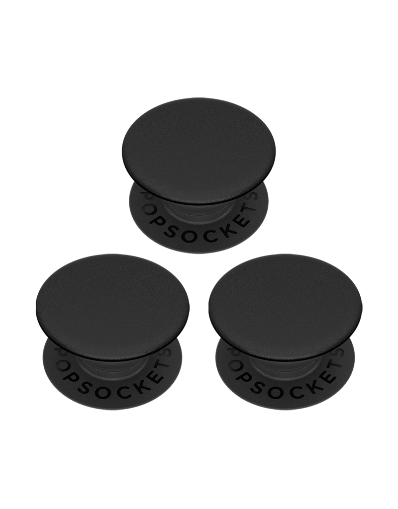 PopSockets PopSockets PopMinis Device Stand and Grip Three Pack - Triple Black